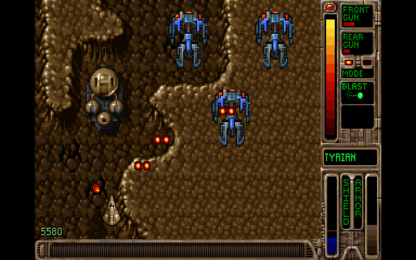 Screenshot of video game Tyrian 2000