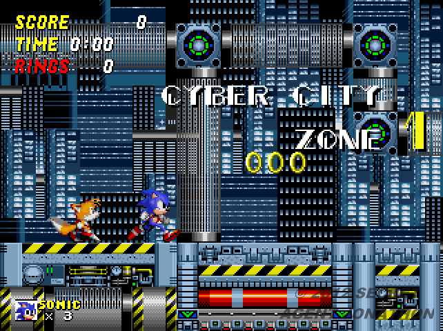 A screenshot of Sonic the Hedgehog 2