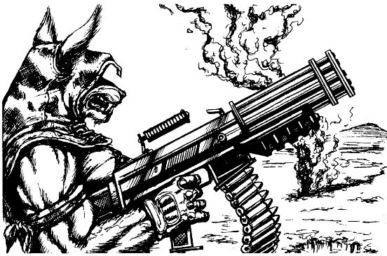 That's a werewolf with minigun