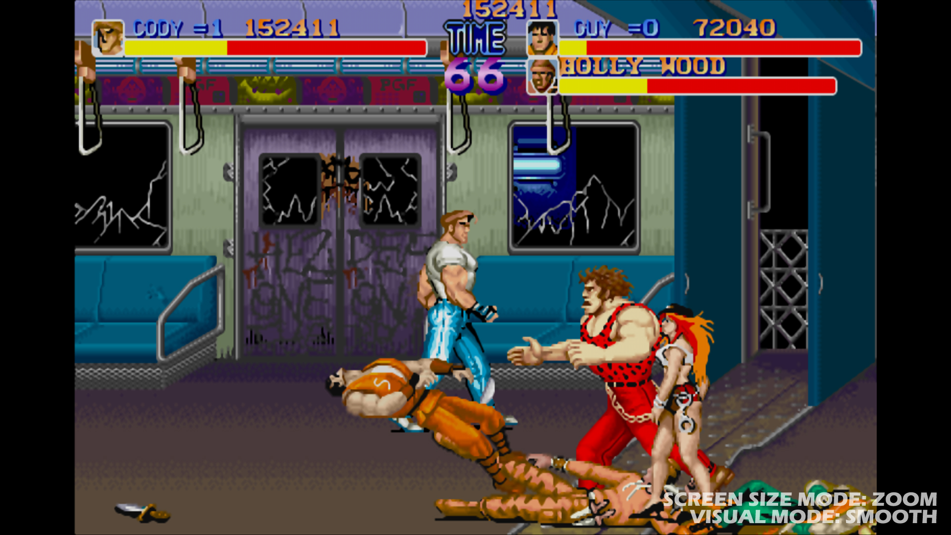 A screenshot from Final Fight, a braling video game by Capcom