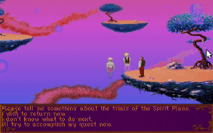Screenshot of point-and-click adventure Dragonsphere