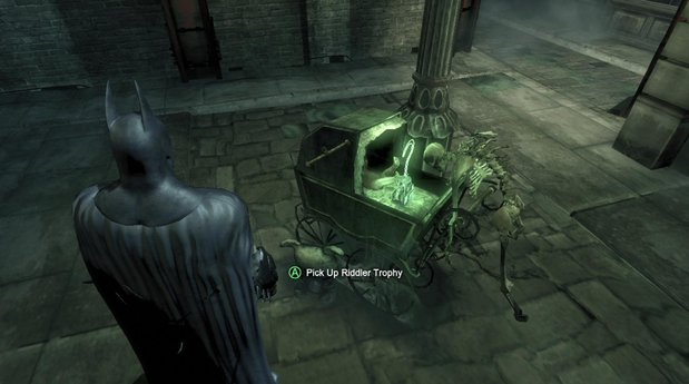 A Riddler Trophy in the Batman: Arkham games