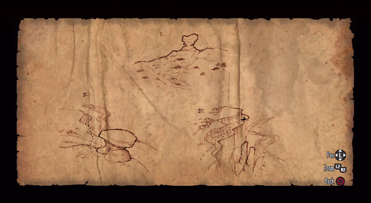 A treasure map in Red Dead Redemption