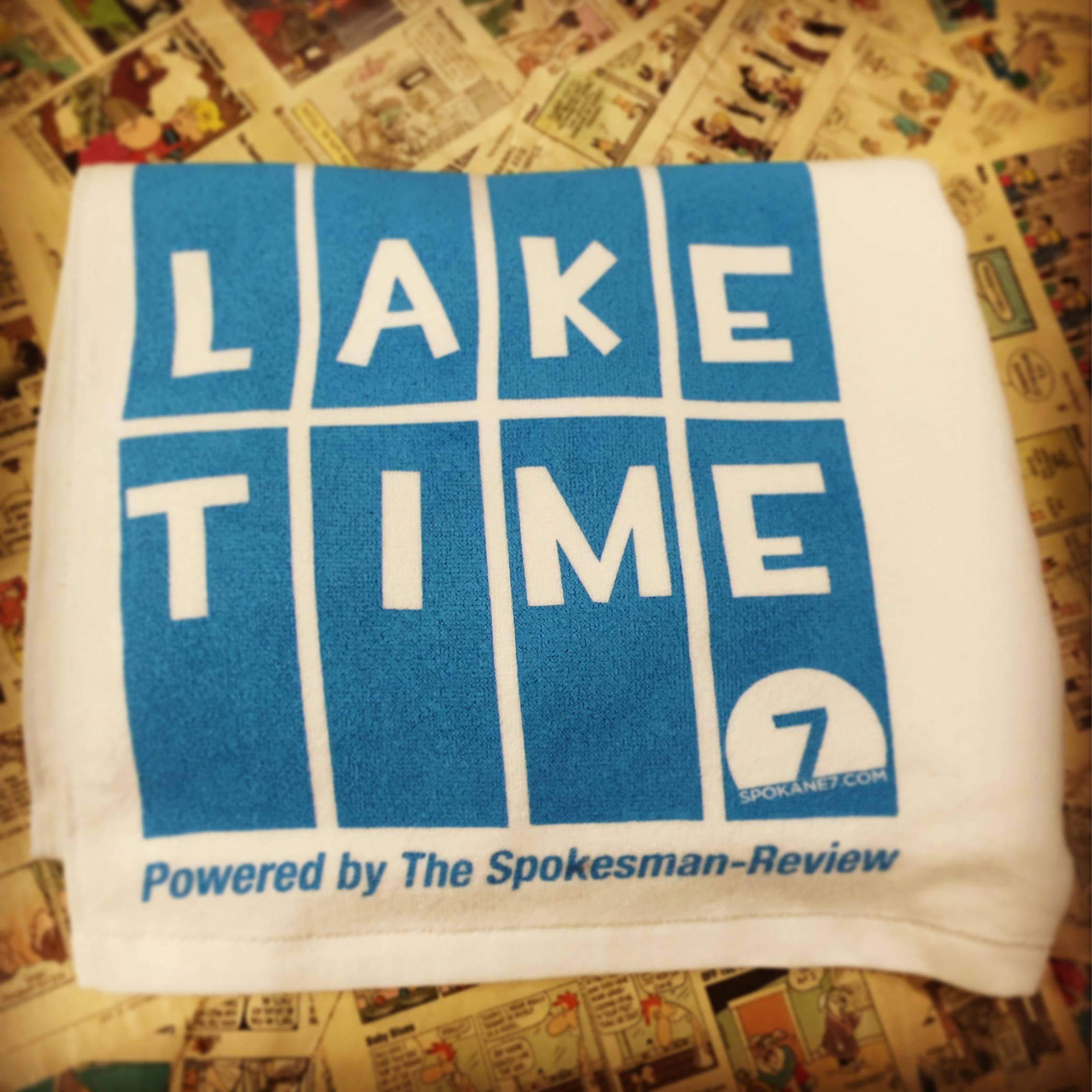 Lake Time beach towel