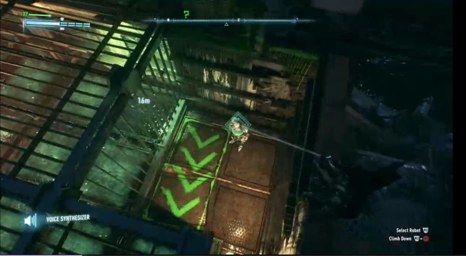 """An in-game screenshot of a Riddler trophy in """"Arkham Knight"""""""