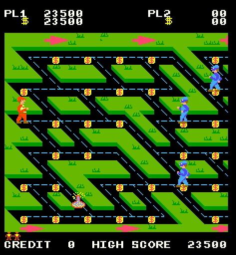 "Screen shot from arcade game ""Money Money"""
