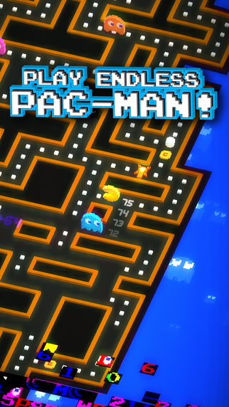 Promotional screenshot for 'Pac-Man 256'