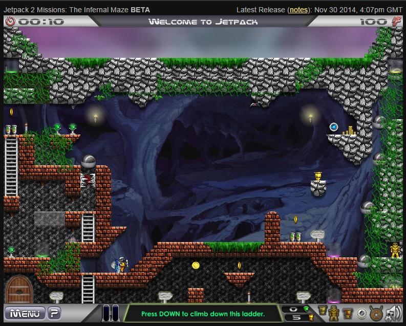 Screenshot of 'Jetpack 2' beta