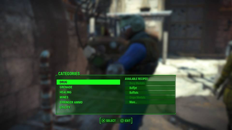 An in-game screenshot of Fallout 4