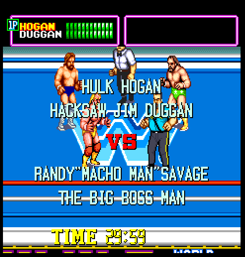Screenshot of 'WWF Superstars'