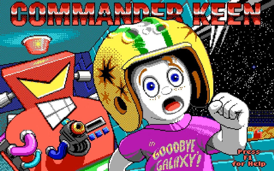 "Title screen for ""Commander Keen"""