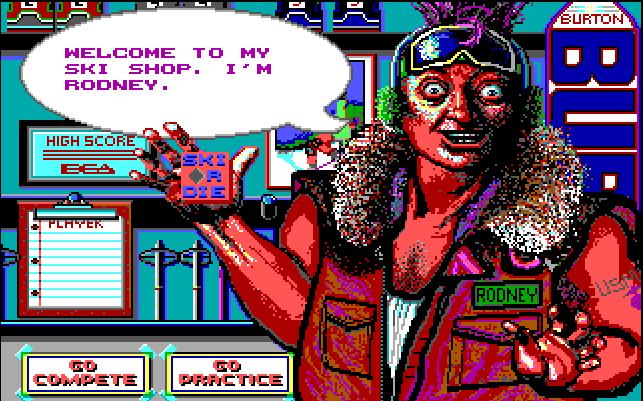 In-game screenshot of Ski or Die!