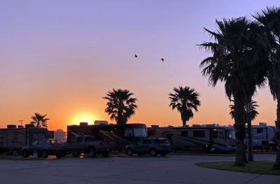 Galveston, Texas, sunset